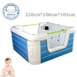 Baby swimming pool spa bathtub double glass